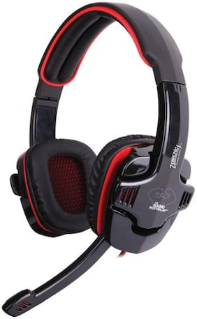 Zebronics Iron Head 7.1 Multimedia Gaming Wired Headset with Mic  (Black, Over the Ear)