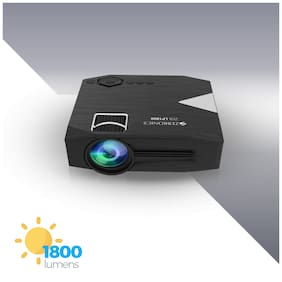Zebronics ZEB-LP1800 Projector comes 305 cm screen size support including a built-in speaker ,HDMI, VGA, USB, Micro SD, AV IN/AUX