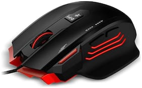 Zebronics Zeb-Groza - Premium USB Gaming Mouse with 7 Buttons, 3200 DPI High Resolution Gaming Sensor, Adjustable Weights