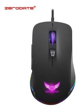 ZERODATE S600 High Performance Gaming Mouse Professional RGB Mechanical Mouse Adjustable Wrist Support for Windows XP Win 7 Win 8 iOS