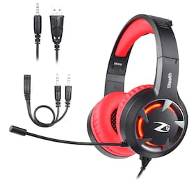 Zoook STEALTH Over ear Gaming Headsets With Mic - Red