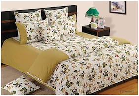 Swayam Cotton Solid Double Size Bedsheet 144 TC ( 1 Bedsheet With 2 Pillow Covers , Green )