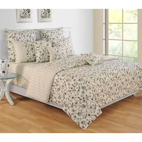 Swayam Colors Of Life  Double Bed Sheet with Two Pillow Covers
