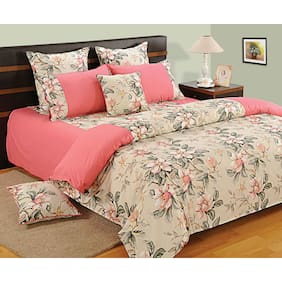 Swayam Cotton Solid Double Size Bedsheet 160 TC ( 1 Bedsheet With 2 Pillow Covers , Pink )