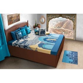 House This 210 Tc Blue 1 Double Comforter