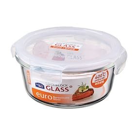 Lock & Lock Heat Resistant Bakeware Glass Round 650 ML (1 PC)