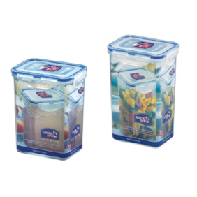 Lock & Lock Tall Food Storage Container 1200 ML + 1300 ML(Set of 2)