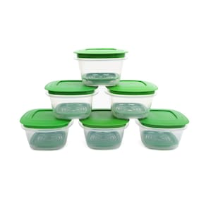 Cutting Edge Veggie Fresh 6 Pcs Food Storage Containers  With Freshness Trays (Green) (3600 Ml )