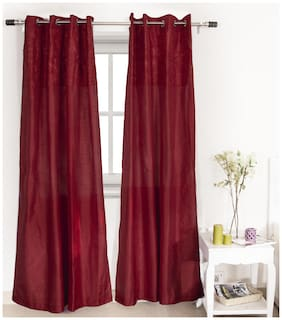 House This 210 Tc Red 1 Window Curtain
