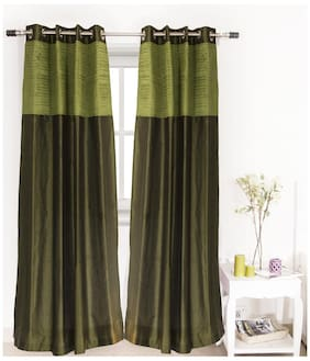 House This 210 Tc Green 1 Door Curtain