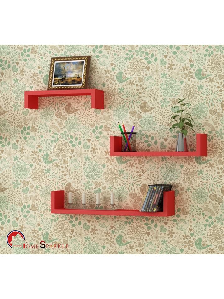 Home Sparkle Set Of 3 Wall Shelves