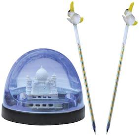 Indo Symbol Of Love Taj Mahal In Water Filled Pen Holder