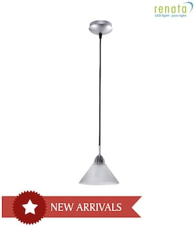 Renata LED Warm Crack LED Glass Pendant Light