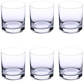 Bohemia Crystal Whiskey Glass set, Non Lead Crystal Barline Whiskey Glass (280 ml) set of 6 pcs