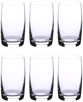 Bohemia Crystal juice Glass set, Non Lead Crystal Ideal Water Glass (250 ml) set of 6 pcs