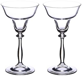 Bohemia Crystal Martini Glass set, Non Lead Crystal Angela Martini Glass (185 ml) set of 2 pcs
