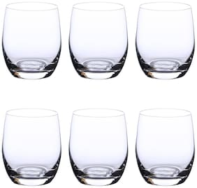 Bohemia Crystal Whiskey Glass set, Non Lead Crystal Club Whiskey Glass (300 ml) set of 6 pcs