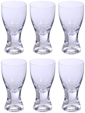 Bohemia Crystal Juice Glass set, Non Lead Crystal Samba Juice Glass (200 ml) set of 6 pcs