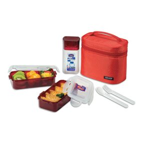 Lock & Lock 3Pcs Lunch Box Set With Red Bag (1 PC)