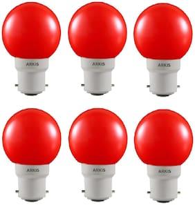0.5 WATT LED BULB RED COLOR (PACK OF 6)