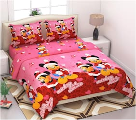 1 Double Bedsheet with 2 Pillow Covers