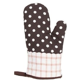 1 Pcs Cotton Thick Kitchen Baking Cook Insulated Padded Oven Gloves Mitt
