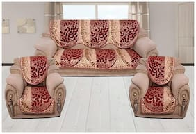 1 Sofa seat Cover(64 inch X 25 inch) 1 Sofa Back Cover(64 inch X 25 inch) 2 Chair Seat Cover(25 inch X 22