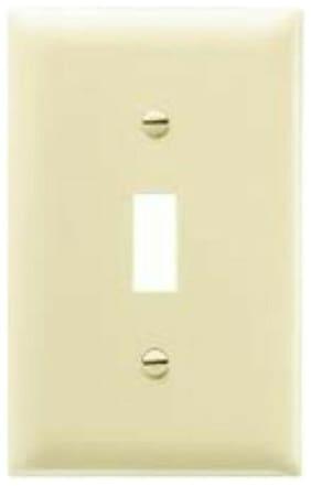 10 pk Eagle Electric Single-Gang Lightswitch Wallplates Cream