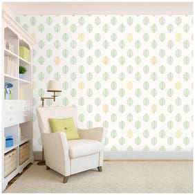 100yellow Designer Hd Green Leaf Pattern Peel And Stick Wallpaper ( ) Wallpaper - 26.7 Sqft