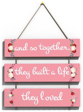 100Yellow Love Quote Wall Hanging Board Plaque Sign For Room Decoration