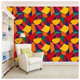 100yellow Printed Peel and Stick Decor   Wallpaper (Multi;PVC Vinyl;26.7 Sqft)