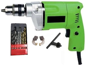 10mm Drill Machine & Drill Bits For Wall;Wood & Iron Sizes 5mm;6mm & 8mm Each