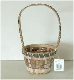 "12 Birch Bark Baskets - w/Nice Liner -11"" High 5"" Round Opening - Free Shipping!"