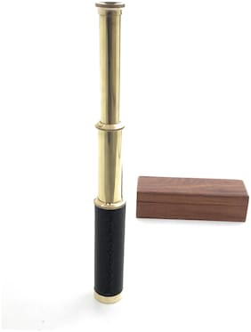 Shoptreed Brass Golden Telescope ( 1 piece )