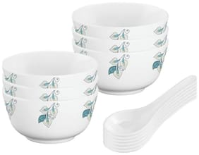 12 Pc Soup Bowl set 11 CM (6pcs Bowl & 6pcs spoon)