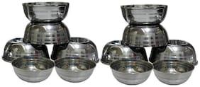 12 pcs stainless steel sabji bowls