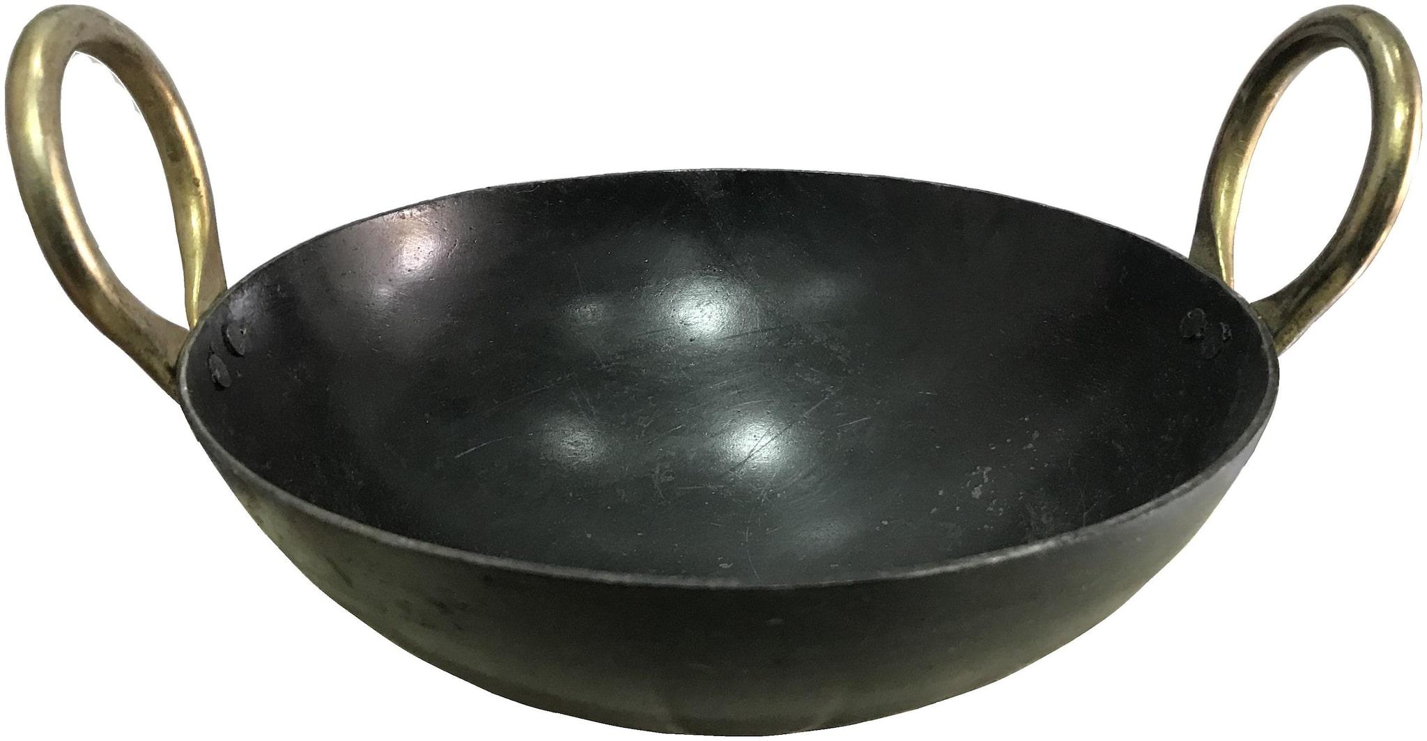 13 inch Indian Household Iron Kadhai With Handle  33.02 cm