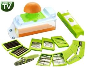 14 in 1 Fruit Chopper Vegetable UNBREAKABLE tool Assorted Lowest On Bazaar Chipser;Dicer;Grater;Slicer;Cutter & 3in1 Peeler