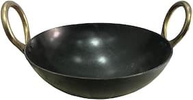 14 inch Indian Household Iron Kadhai With Handle (35.56 cm )