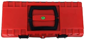 14inch Heavy duty Plastic Red and Black Tool Box with Tray