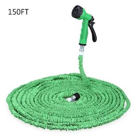 150FT Expandalble Garden Hose Water Pipe with 7 Modes Spray Gun