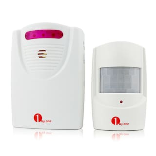 1Byone Alert Alarm System Wireless Driveway Motion Sensor Security Detector 300M