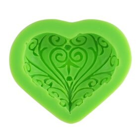 1Pcs 100% Food Grade Silicone Baking Candy Chocolate Mold Mould Heart Love Bakeware Decorating Decoration DIY Mould Soap Die Random Color