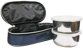 SUPERTEXON 2 Containers Stainless steel Lunch Box - Assorted