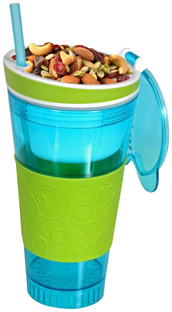 2 in 1 Snack   Drink In One Cup  Assorted