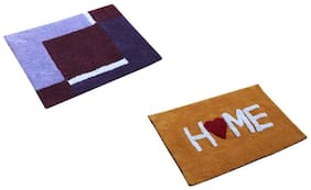 2 Pcs soft cotton bathmat (full Size)