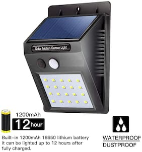 20 LED Bright Outdoor Security Lights with Motion Sensor Wireless Waterproof Night Lighting Solar Powered Spotlight for Garden
