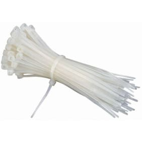 200mm x 2.5mm Nylon Standard Cable Tie (White Pack of 100)