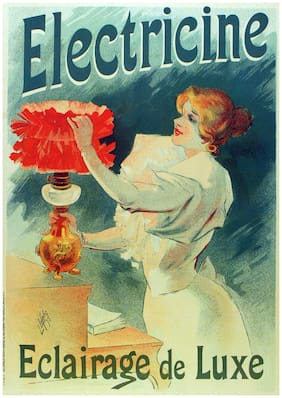 2122 Eclairage deluxe Ad Art Decoration POSTER.Graphics to decorate home office.