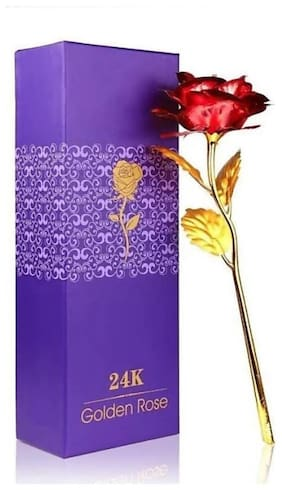 24k gold plated golden foil red rose flower with unique gift box for valentines day/anniversary gift/return gift/friendship day gift/birthday gift
